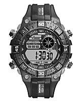 Недорогие -Муж. Спортивные часы Цифровой силиконовый Черный Защита от влаги Фосфоресцирующий Цифровой На каждый день Мода - Черный