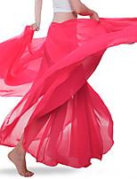 Недорогие -Танец живота Нижняя часть Жен. Учебный / Выступление Шифон Рюши / сборки Средняя талия Юбки