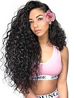 Недорогие -человеческие волосы Remy Полностью ленточные Лента спереди Парик Бразильские волосы Крупные кудри Глубокий курчавый Парик Ассиметричная стрижка 130% 150% 180% Плотность волос