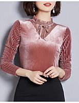 Недорогие -женская стройная футболка азиатского размера - геометрическая шея
