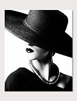 Недорогие -С картинкой Отпечатки на холсте - Люди Гламурная девушка Modern
