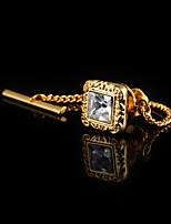 Недорогие -Кубик Золотой / Розовое золото Застежки и крючки Циркон / Медь Мода / Элегантный стиль Муж. Бижутерия Назначение Свадьба / Официальные