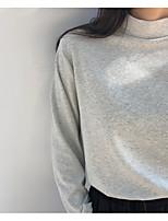 Недорогие -Женская футболка азиатского размера из хлопка скинни - однотонная подставка