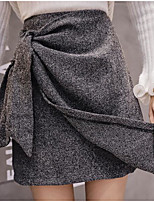 Недорогие -женские юбки средней длины - однотонные