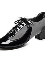 Недорогие -Муж. Обувь для латины Кожа Кроссовки На плоской подошве Персонализируемая Танцевальная обувь Белый / Черный / Красный