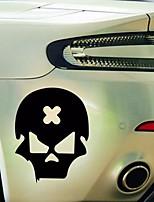 Недорогие -Крест ошибка череп стикер автомобиля скелет мотоцикла светоотражающие виниловые наклейки 14см * 11см
