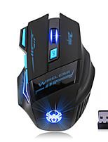 Недорогие -Factory OEM Беспроводное соединение Bluetooth4.1 Gaming Mouse 7 pcs ключи RGB свет 4 Регулируемые уровни DPI 3200 dpi