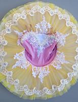 abordables -Danse classique Robes Fille Utilisation Spandex Dentelle / Combinaison / Cristaux / Stras Sans Manches Robe