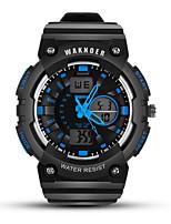 Недорогие -Муж. Спортивные часы электронные часы Цифровой силиконовый Черный Защита от влаги Фосфоресцирующий Цифровой На каждый день Мода - Черный / Красный Черный / Белый Черный / Синий