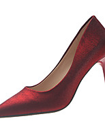 Недорогие -Жен. Полиуретан Весна На каждый день Обувь на каблуках На шпильке Черный / Бежевый / Красный