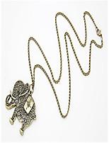 Недорогие -Муж. Ожерелья с подвесками Античная бронза 60 cm Ожерелье Бижутерия 1шт Назначение Повседневные
