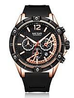 Недорогие -Муж. Наручные часы Кварцевый силиконовый Черный Защита от влаги Календарь Фосфоресцирующий Аналоговый На каждый день Мода - Розовое золото / Нержавеющая сталь