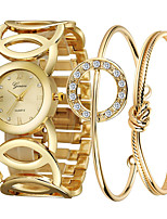 Недорогие -Жен. Часы-браслет Наручные часы Кварцевый Золотистый Очаровательный Повседневные часы Аналоговый Кольцеобразный Мода - Золотой / Нержавеющая сталь