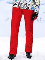 Недорогие -High Experience Муж. Лыжные брюки Водонепроницаемость Сохраняет тепло С защитой от ветра Катание на лыжах Сноубординг Зимние виды спорта Полиэфир Терилен Шелковая ткань Снегурочка / Зима