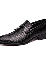 Недорогие -Муж. Кожаные ботинки Синтетика Весна / Осень Деловые / На каждый день Мокасины и Свитер Дышащий Черный / Красный
