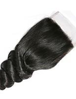 Недорогие -Бразильские волосы 4x4 Закрытие / Бесплатно Part Волнистый Бесплатный Часть Швейцарское кружево Не подвергавшиеся окрашиванию Жен. Шелковистость / обожаемый / Cool Спасибо / спорт / Для улицы