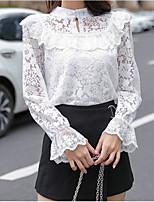 Недорогие -женская рубашка азиатского размера - однотонная шея