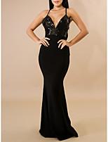 Недорогие -женская вечеринка макси стройное облегающее платье ремешок винный черный с м л xl
