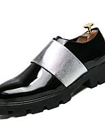 Недорогие -Муж. Комфортная обувь Полиуретан Весна На каждый день Мокасины и Свитер Нескользкий Контрастных цветов Черный и золотой / Черный