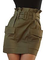 Недорогие -женские юбки-карандаш до колен - сплошное цветное пэчворк