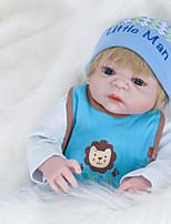 Недорогие -FeelWind Куклы реборн Мальчики 22 дюймовый Полный силикон для тела Силикон Винил - как живой Ручная Pабота Очаровательный Безопасно для детей Дети / подростки Non Toxic Детские Универсальные Игрушки