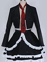 abordables -Inspiré par Cosplay Celestia Ludenbeck Manga Costumes de Cosplay Costumes Cosplay Britannique / Moderne Haut / Jupe / Cravate Pour Homme / Femme