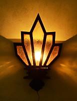 Недорогие -Cool Современный современный Настенные светильники Сад / Коридор Дерево / бамбук настенный светильник 220-240Вольт