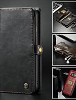 Недорогие -Кейс для Назначение SSamsung Galaxy Note 9 / Note 8 Кошелек / Бумажник для карт / со стендом Чехол Однотонный Твердый Кожа PU