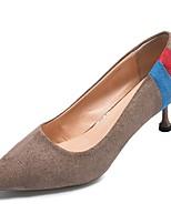 Недорогие -Жен. Полиуретан Весна Обувь на каблуках На шпильке Заостренный носок Черный / Бежевый / Коричневый