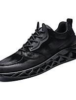 Недорогие -Муж. Комфортная обувь Полиуретан Весна На каждый день Кеды Нескользкий Черный