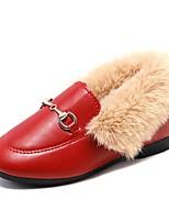 Недорогие -Девочки Обувь Полиуретан Наступила зима Удобная обувь Мокасины и Свитер для Для подростков Черный / Коричневый / Винный