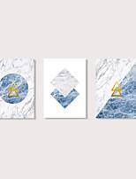 Недорогие -С картинкой Отпечатки на холсте - Абстракция Модерн Modern