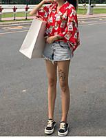 Недорогие -Жен. Рубашка Рубашечный воротник Свободный силуэт Геометрический принт