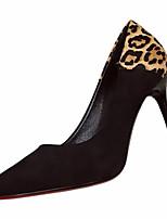 Недорогие -Жен. Полиуретан Весна На каждый день Обувь на каблуках На шпильке Черный / Контрастных цветов
