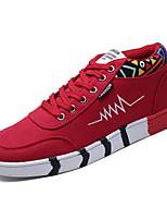 Недорогие -Муж. Комфортная обувь Полиуретан Весна На каждый день Кеды Дышащий Черно-белый / Красный / Черный / Красный