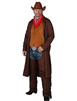 Недорогие -Westworld Вест Ковбой Ковбойские костюмы Взрослые Муж. Инвентарь Рождество Хэллоуин Карнавал Фестиваль / праздник Полиэстер Кофейный Карнавальные костюмы Однотонный
