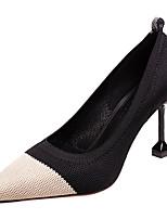Недорогие -Жен. Tissage Volant Весна На каждый день Обувь на каблуках На шпильке Черный / Бежевый / Контрастных цветов