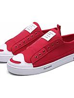 Недорогие -Муж. Комфортная обувь Полотно Весна На каждый день Кеды Нескользкий Черный / Красный / Синий