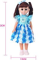 Недорогие -Кукла для девочек Модная кукла Кукла с шаром Девочки 18 дюймовый Силикон - Smart как живой Дети / подростки Детские Универсальные Игрушки Подарок