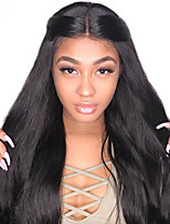Недорогие -человеческие волосы Remy Полностью ленточные Лента спереди Парик Бразильские волосы Прямой Естественный прямой Парик Ассиметричная стрижка 130% 150% 180% Плотность волос