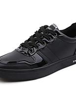 Недорогие -Муж. Комфортная обувь Полиуретан Наступила зима На каждый день Кеды Черный / Красный