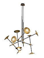 Недорогие -ZHISHU 9-Light геометрический / Оригинальные Люстры и лампы Рассеянное освещение Окрашенные отделки Металл Стекло Творчество, Новый дизайн 110-120Вольт / 220-240Вольт