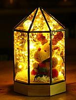 Недорогие -1шт LED Night Light Тёплый белый Дистанционно управляемый / Творчество / Милый
