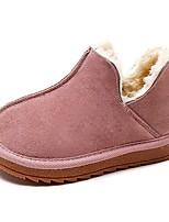 Недорогие -Девочки Обувь Искусственная кожа Зима Удобная обувь / Зимние сапоги Ботинки для Для подростков Серый / Коричневый / Розовый