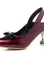 Недорогие -Жен. Искусственная кожа Весна лето Обувь на каблуках На каблуке-рюмочке Заостренный носок Черный / Желтый / Винный