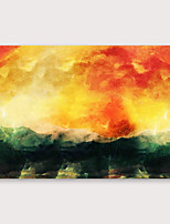 Недорогие -Hang-роспись маслом Ручная роспись - Абстракция Modern Включите внутренний каркас