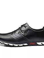 Недорогие -Муж. Комфортная обувь Полиуретан Весна & осень На каждый день Кеды Нескользкий Черный / Коричневый