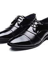 Недорогие -Муж. Официальная обувь Полиуретан Осень Мокасины и Свитер Черный