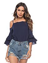 Недорогие -Жен. Блуза Классический Однотонный