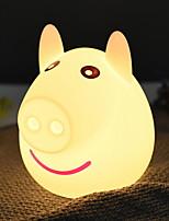 Недорогие -1шт LED Night Light / Детский ночной свет Тёплый белый USB Творчество <=36 V